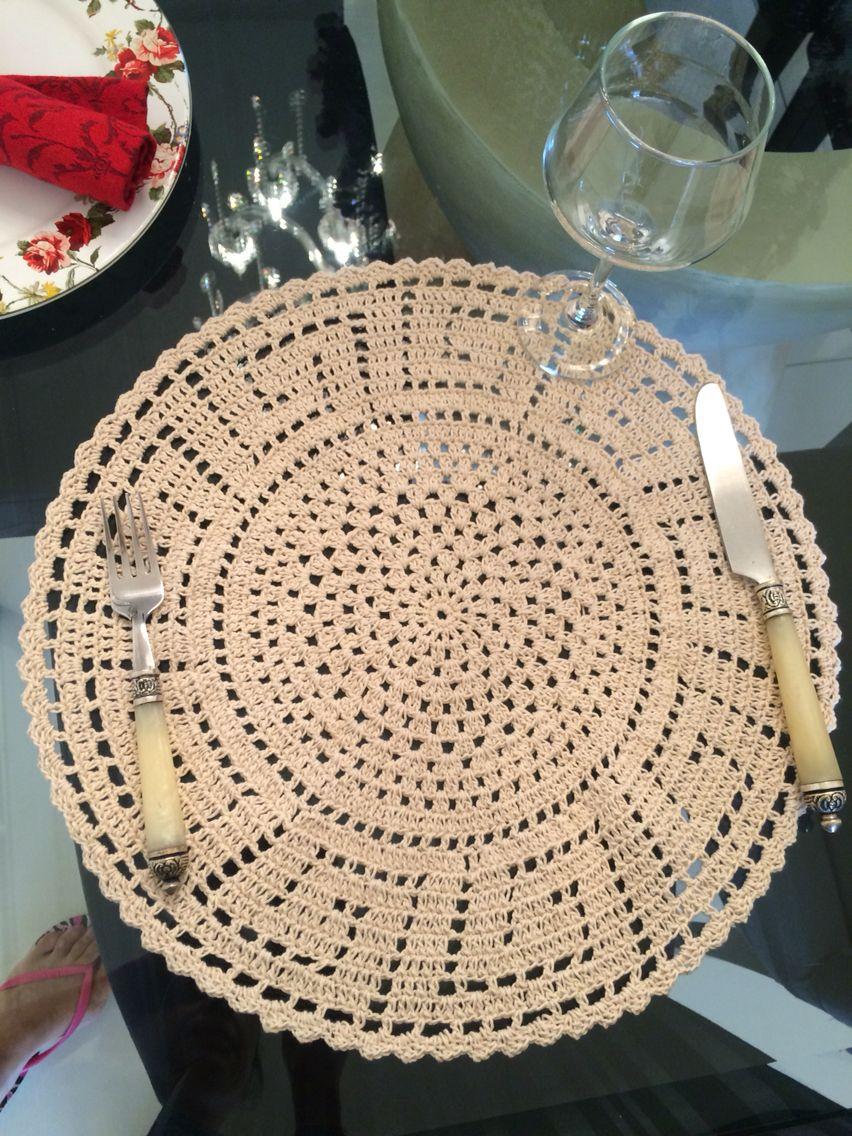 Receita Jogo Americano Croche Cordao 8 5 Sousplat Croche Casa De Croche Sousplat