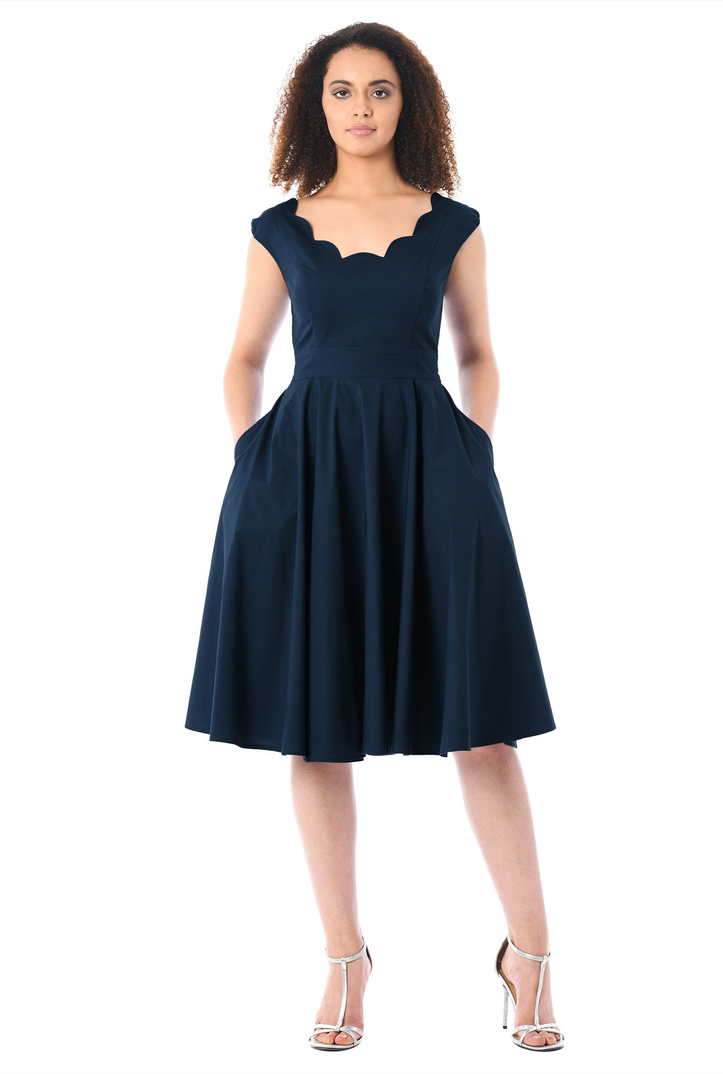 Back zip dresses below knee length dresses bridesmaids dresses