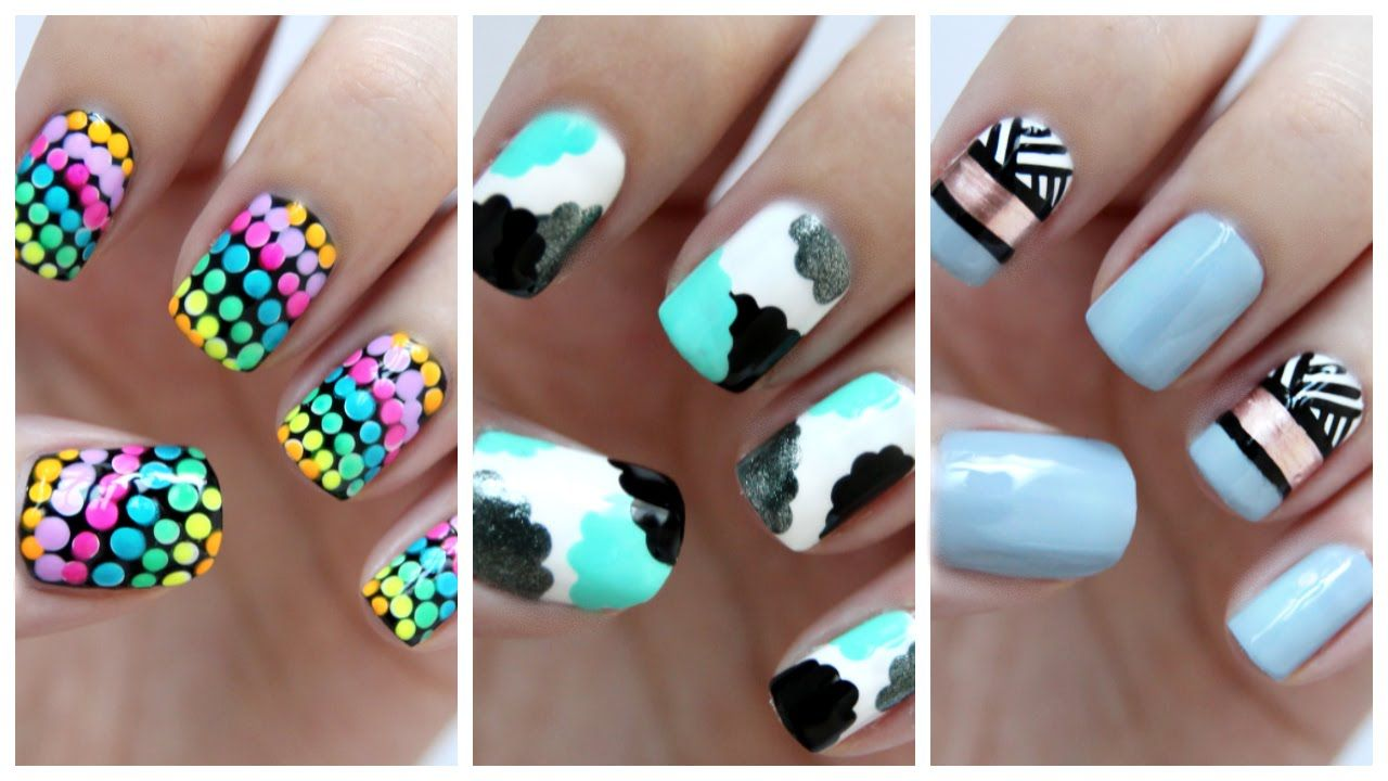 Easy Nail Art For Beginners!!! #23 | JennyClaireFox | Nail Designs ...