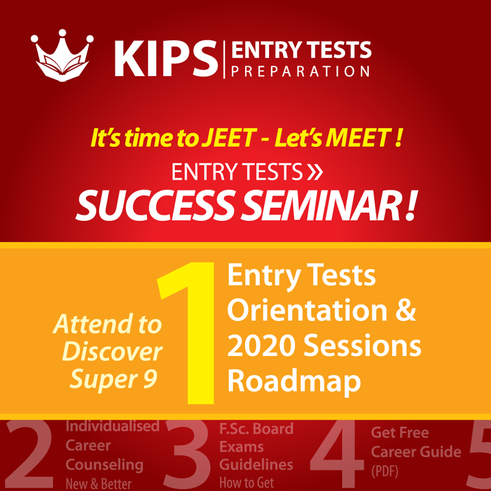 Let's Meet At Entry Tests Success Seminar Free and Open