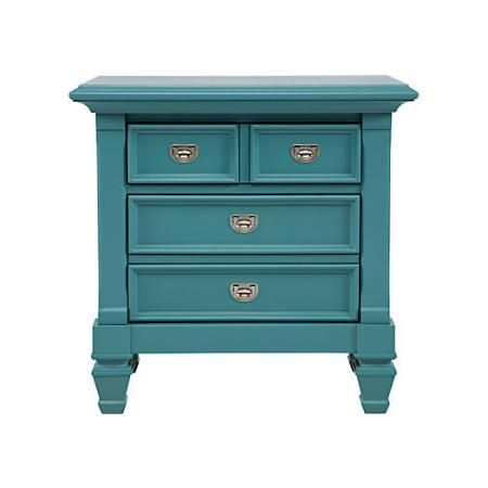Best Belmar Blue Nightstand 199 Blue Nightstands Bedroom 640 x 480