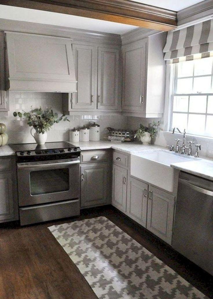 Photo of 26+ Wonderful Gray Farmhouse Kitchen Cabinet Makeover Ideas