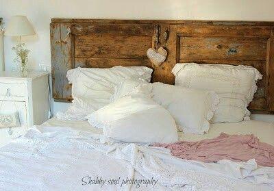 Testata letto shabby l porta antica shabby chic - Testata letto shabby ...