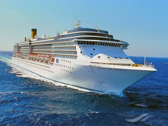 M V Costa Atlantica Type Passenger Cruise Ship Built 2000 Gt 85619 Http Www Vesselfinder Com Vessels Mv Costa Atlanti World Cruise Cruise Costa Cruises