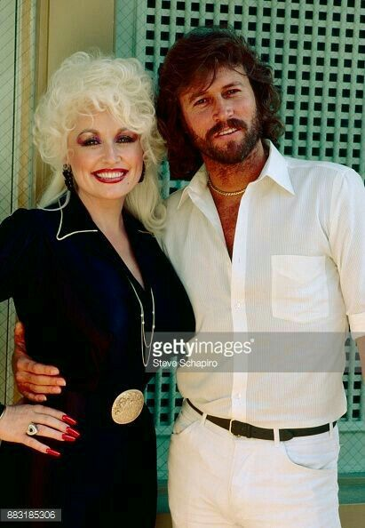 Dolly And Barry Eo Bee Gees Barry Gibb Dolly Parton