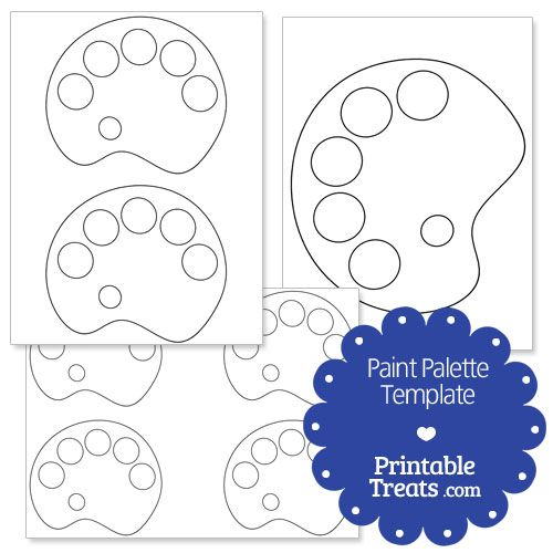 Printable Paint Palette Shape Template Paint Palette Painting