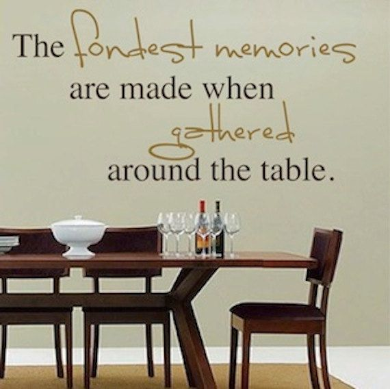 The Fondest Memories Vinyl Wall Quotetrendywalldesigns On Etsy Classy Dining Room Wall Quotes Design Inspiration