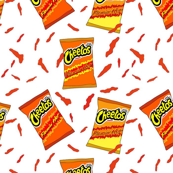 Flamin Hot Cheetos Illustration King Size Pillow Sham By Meesh Standard Set Of 2 Cheetos Pretty Wallpaper Iphone Wallpaper Iphone Cute