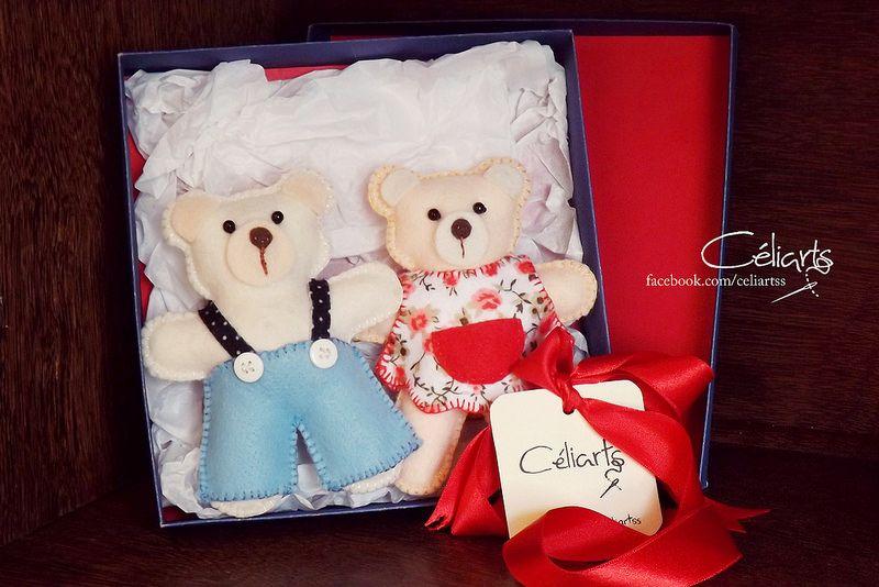 Um casal de Ursinhos para enfeitar o Quarto do Bebê, que é puro charme, topa?
