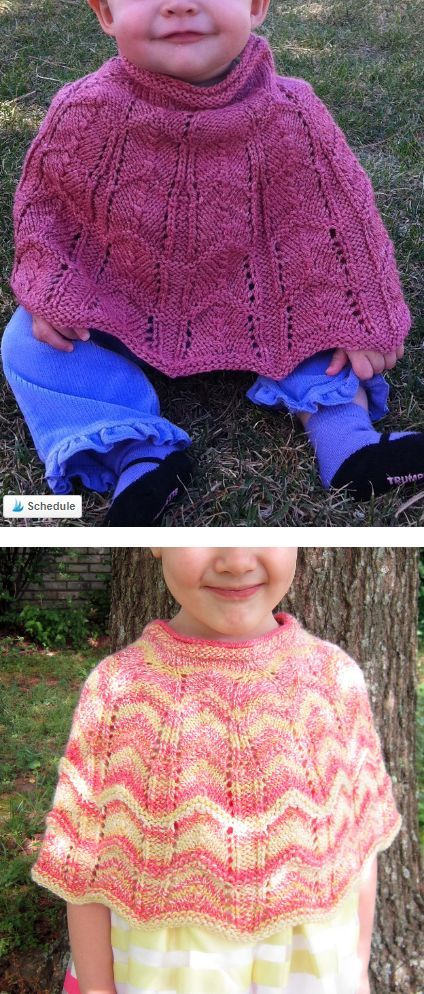 Free Knitting Pattern for Lacy Baby Poncho - Baby and toddler poncho ...