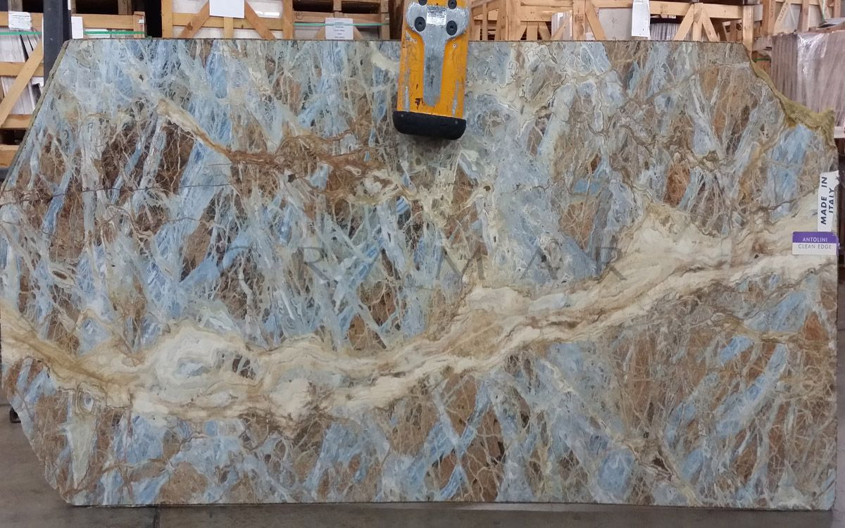 blue jeans marble slab block quarry interior design architecture