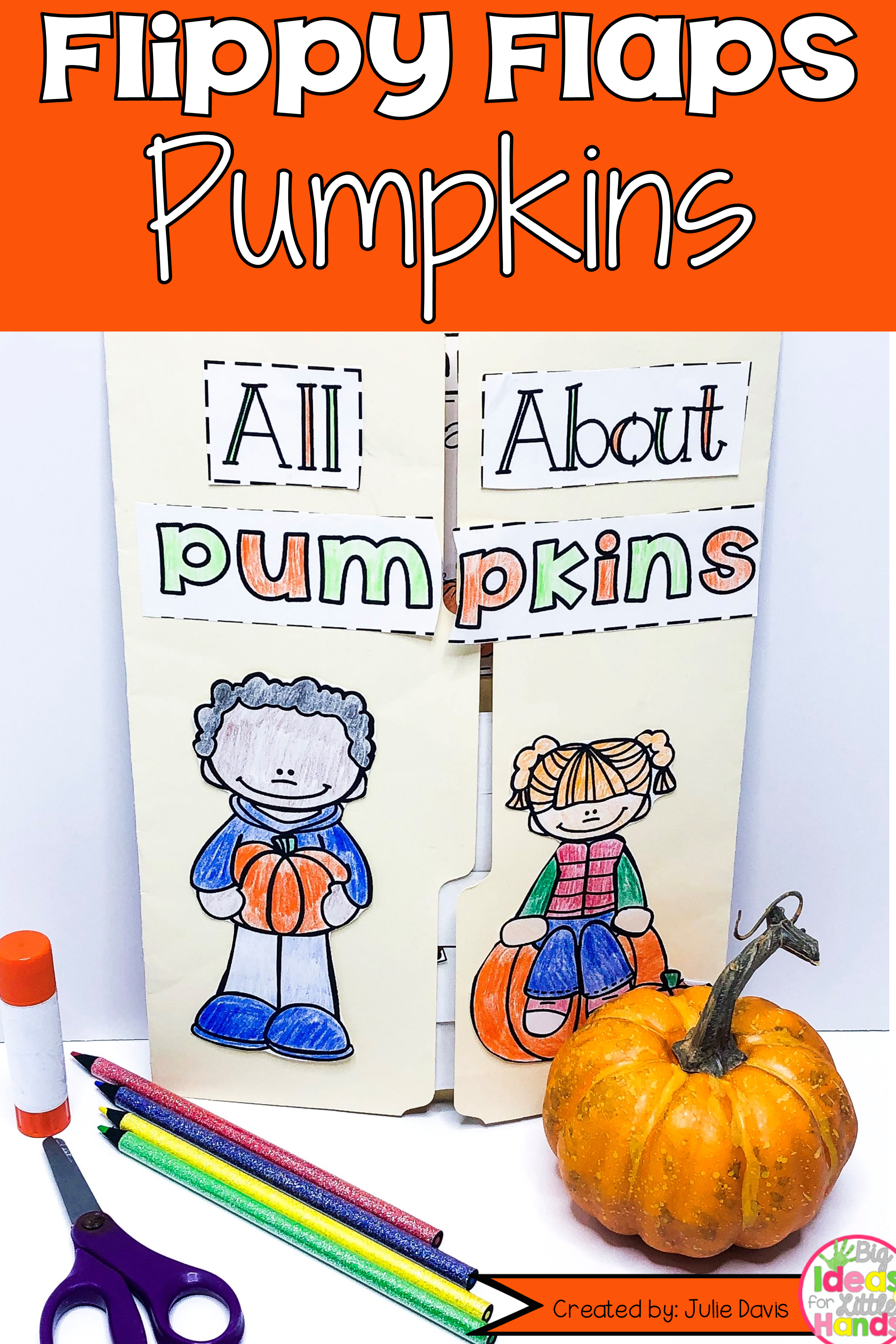 Pumpkin Activities Interactive Notebook Lapbook
