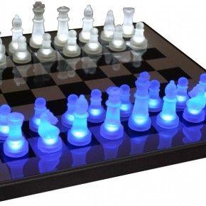 Cool LED Lit Chess Set