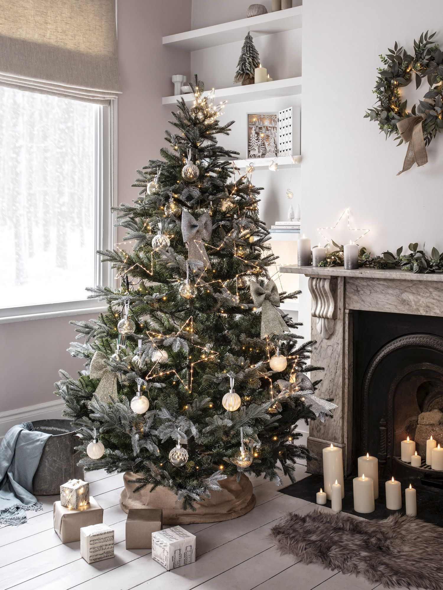 7ft Frosted Mountain Spruce in 2020 Indoor christmas