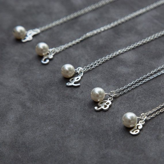 jewelry necklace gift bridesmaid stud set earrings pearl strand bracelet shop bridesmaids