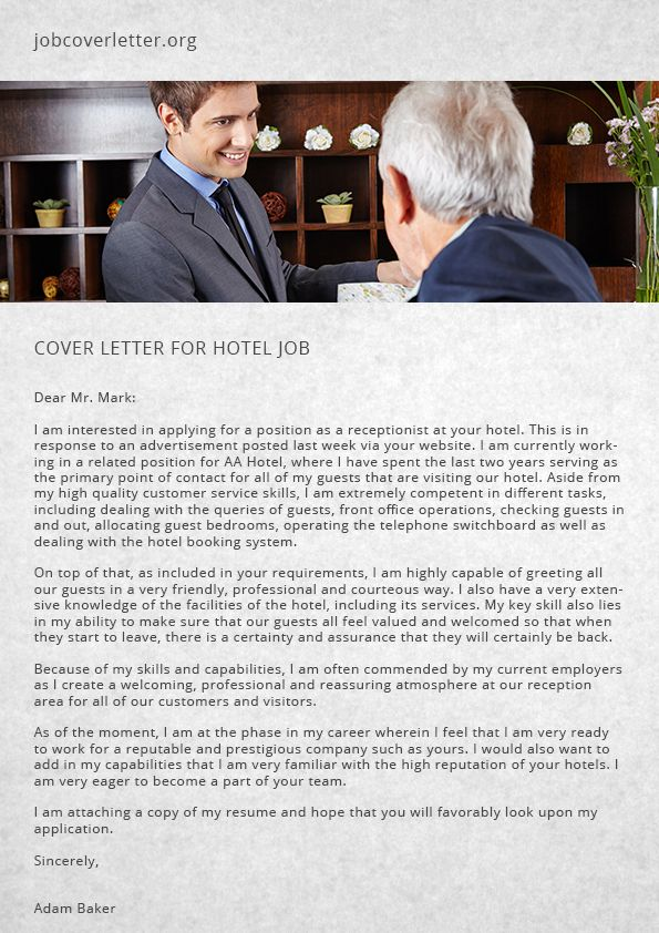 What Is A Cover Letter For A Job Best How To Start A Cover Letter For Hotel Job  Job Cover Letter  Job .
