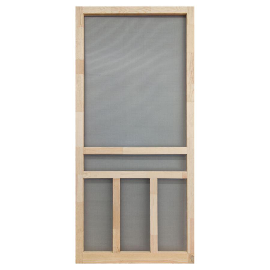 Screen Tight Creekside Natural Wood Hinged Screen Door Common 32 In X 80 In Actual 32 In X 80 In Wooden Screen Door Wood Screen Door Screen Door