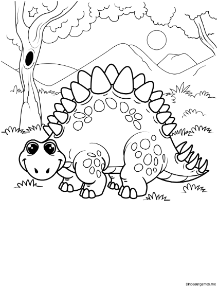 Cute Stegosaurus Coloring Page Dinosaur Coloring Pages Dinosaur Coloring Cute Coloring Pages