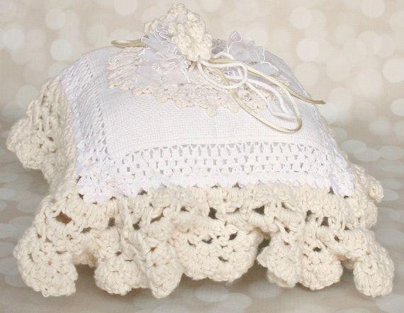 Ring Bearer Pillow Wedding Ring Pillow Bridal by FancieStrands, $70.00