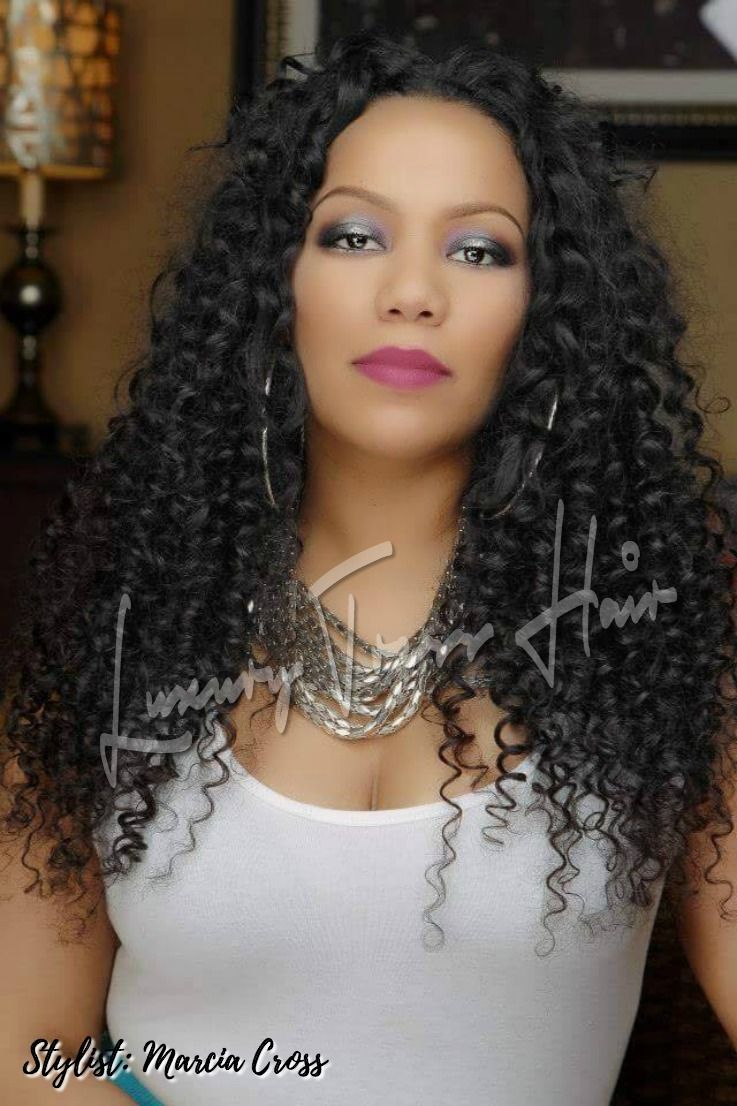 Long Curly Sew In Weave Hairstyle Angela Has A Great Protective