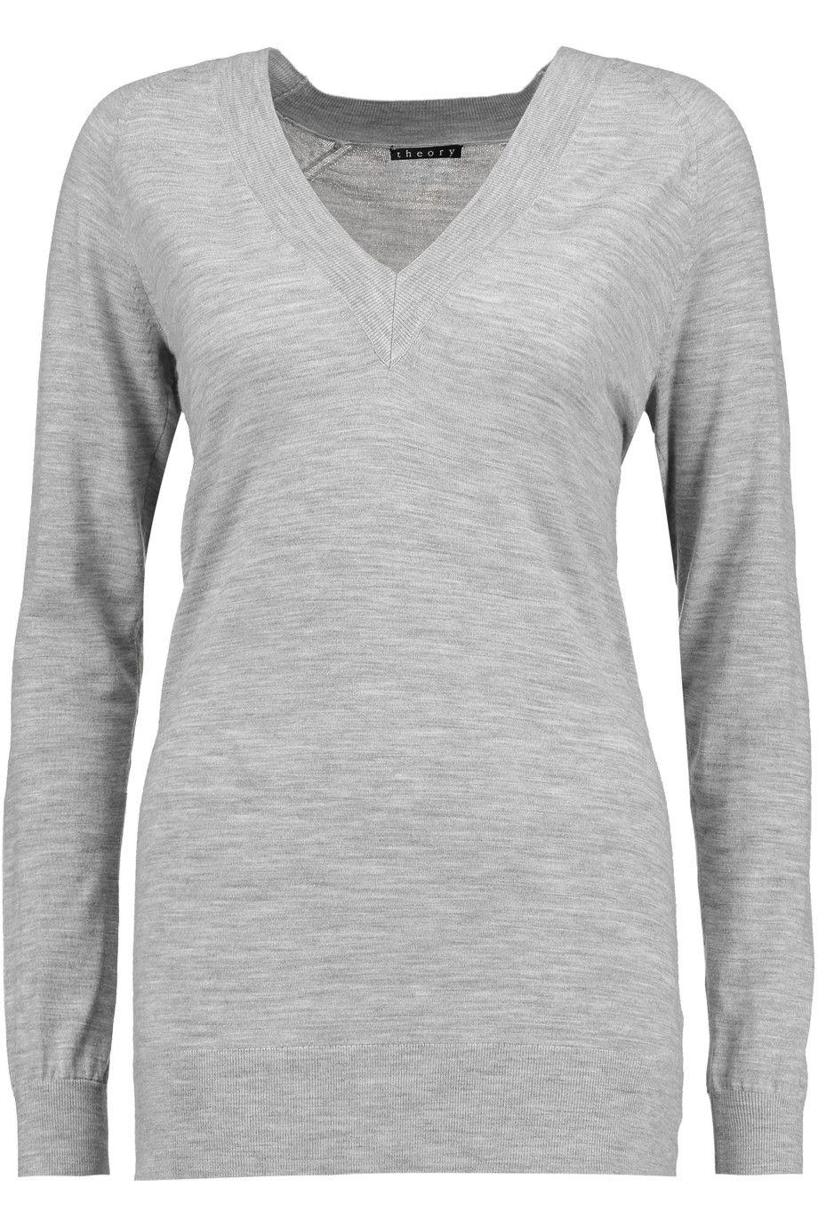 THEORY Delrina L Preen stretch merino wool sweater. #theory #cloth ...