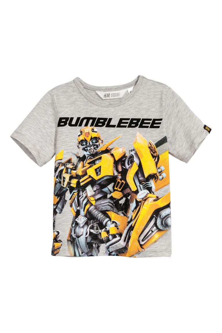 Camiseta con estampado - Gris claro Transformers - NIÑOS  2e135ed2774