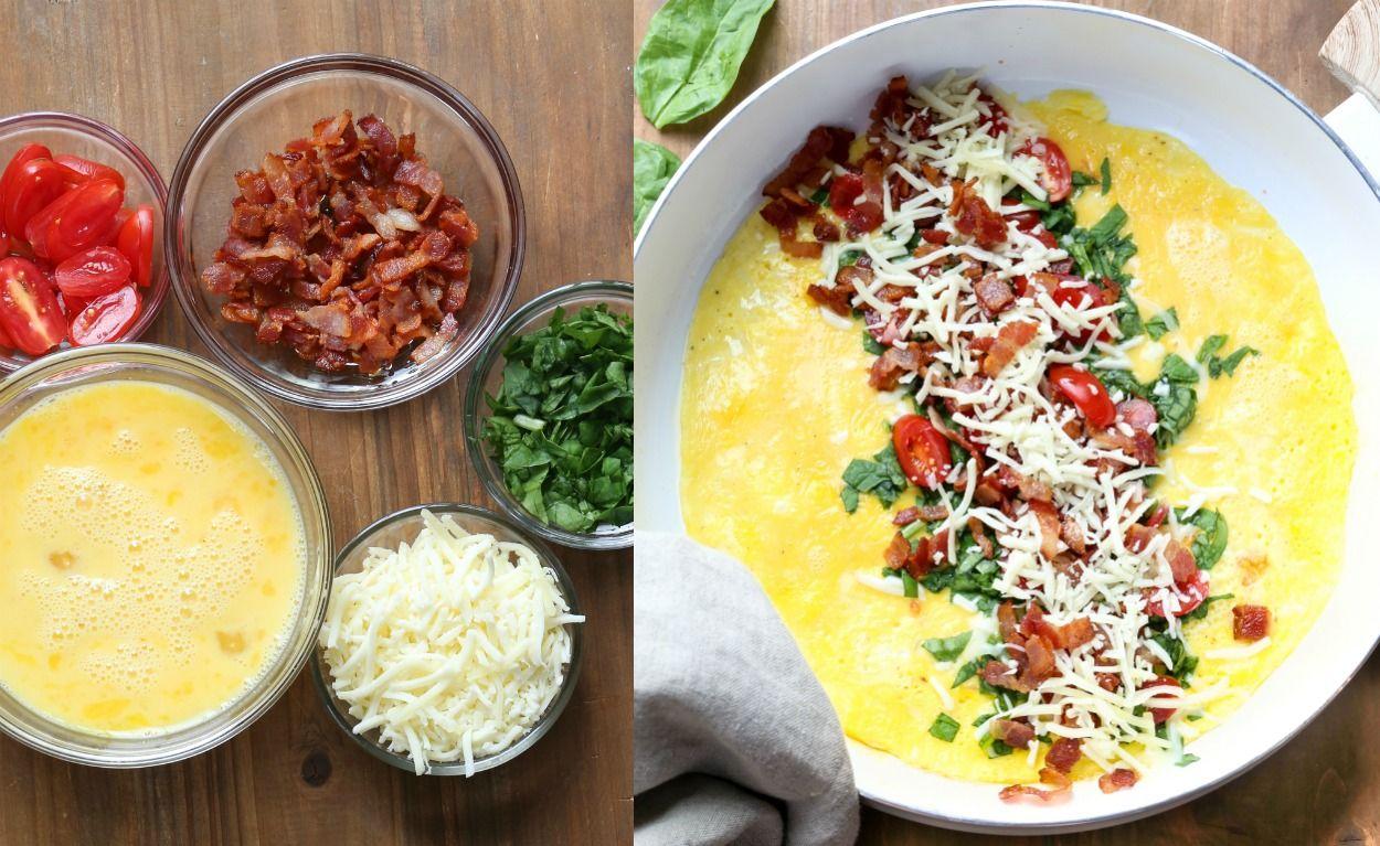 Easy filling breakfast omelette recipe for how to make
