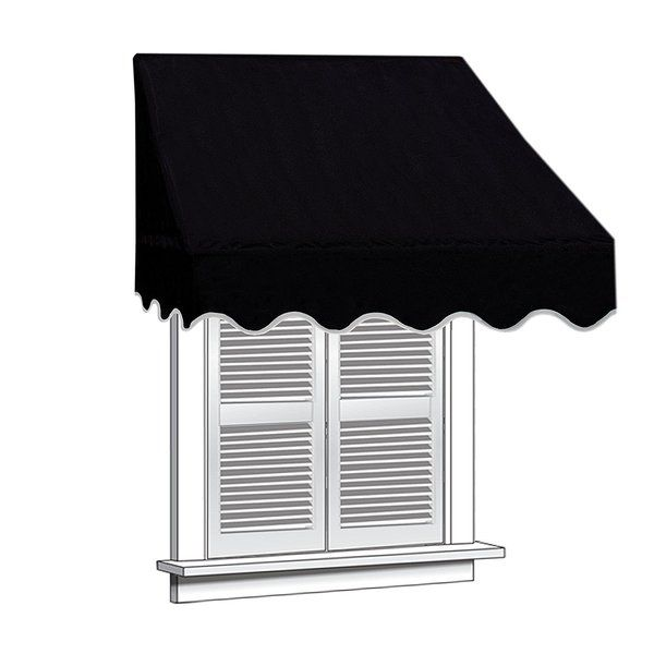 4 Ft W X 2 Ft D Fabric Retractable Standard Window Awning Window Awnings Door Canopy Door Awnings