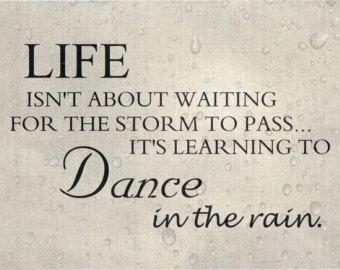 Custom Sign Typography Art Print Rain Dance Dancing In The Rain