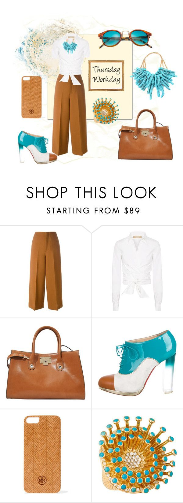"""""""Thursday Workday"""" by blackdoor ❤ liked on Polyvore featuring Marni, Michael Kors, Jimmy Choo, Christian Louboutin, Tory Burch, Christina Debs and Kyme"""