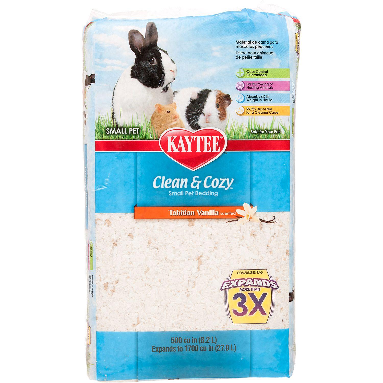 kaytee clean & cozy tahitian vanilla scented small animal bedding