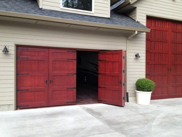 Project Bi Fold Carriage Doors 16 Ft X 8 Ft Insulated Wood Garage Doors Type 4 4 Ft X 8 Ft Non Wa Garage Door Styles Wood Garage Doors Carriage Doors