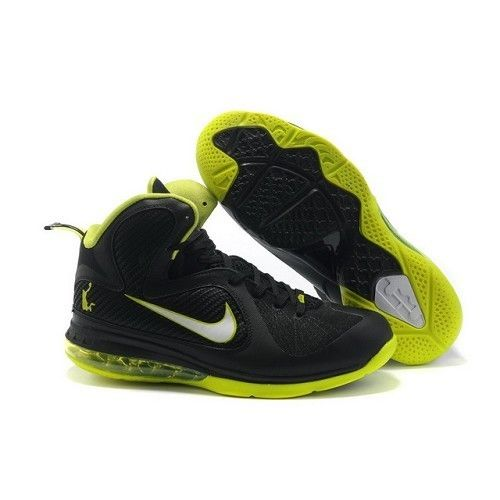 Fashion Nike Air Max Lebron 9 VIIII Men Black Green Basketball Shoes For  $64.99 Go To
