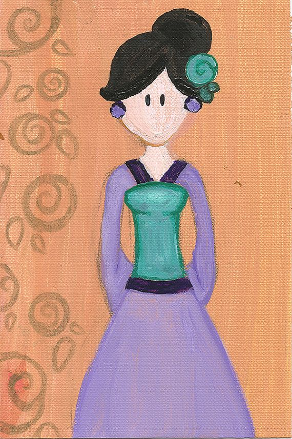 Mulan Original Illustration by maddierosedoodles on Etsy, $5.00