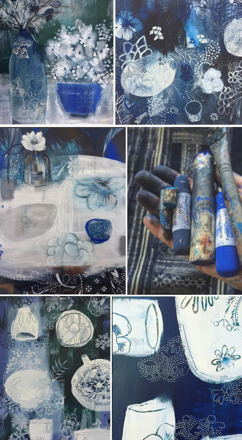 blue series. Indigo. Art by Tiel Seivl-Keevers