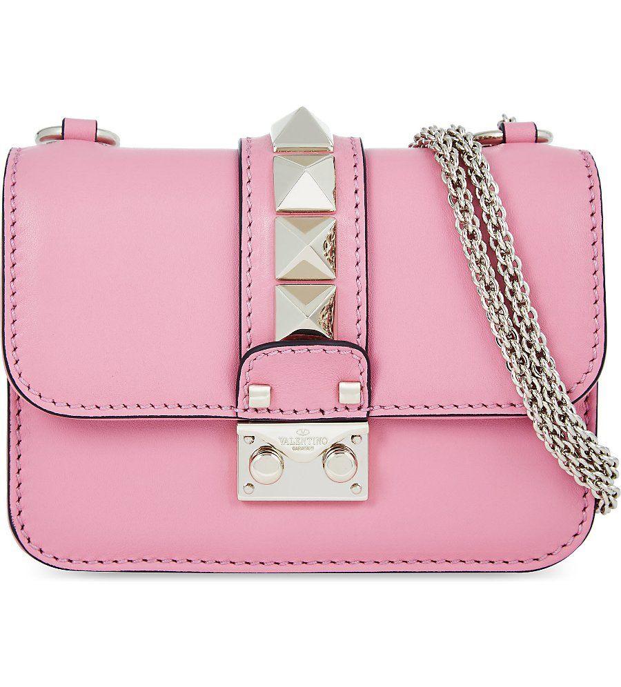 b84f2e675bd7 VALENTINO Rockstud lock mini clutch bag Valentino Handbags
