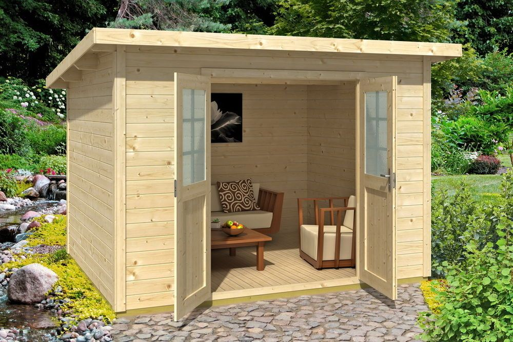 Gartenhaus Geratehaus Sina 1 Pultdach 300 X200 Cm Mit Fussboden Gerateschuppen Garden Office Outdoor Structures Home And Garden