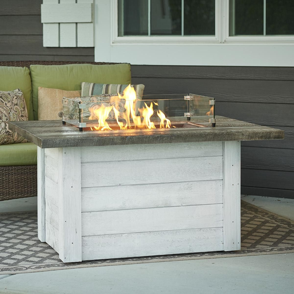 The Outdoor Greatroom Company Alcott 48 Inch Rectangular Propane Gas Fire Pit Table With 24 Inch Cry Fire Pit Table Gas Fire Pit Table Outdoor Fire Pit Designs
