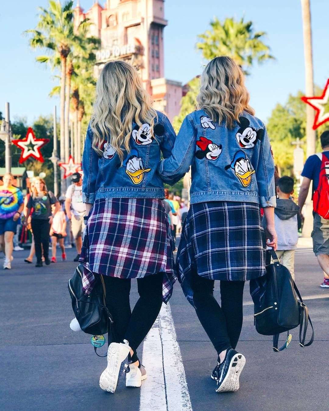 Disney World Matching Clothes with your sister