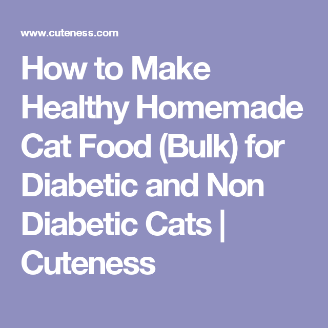 How to make healthy homemade cat food bulk for diabetic and non how to make healthy homemade cat food bulk for diabetic and non diabetic cats forumfinder Images