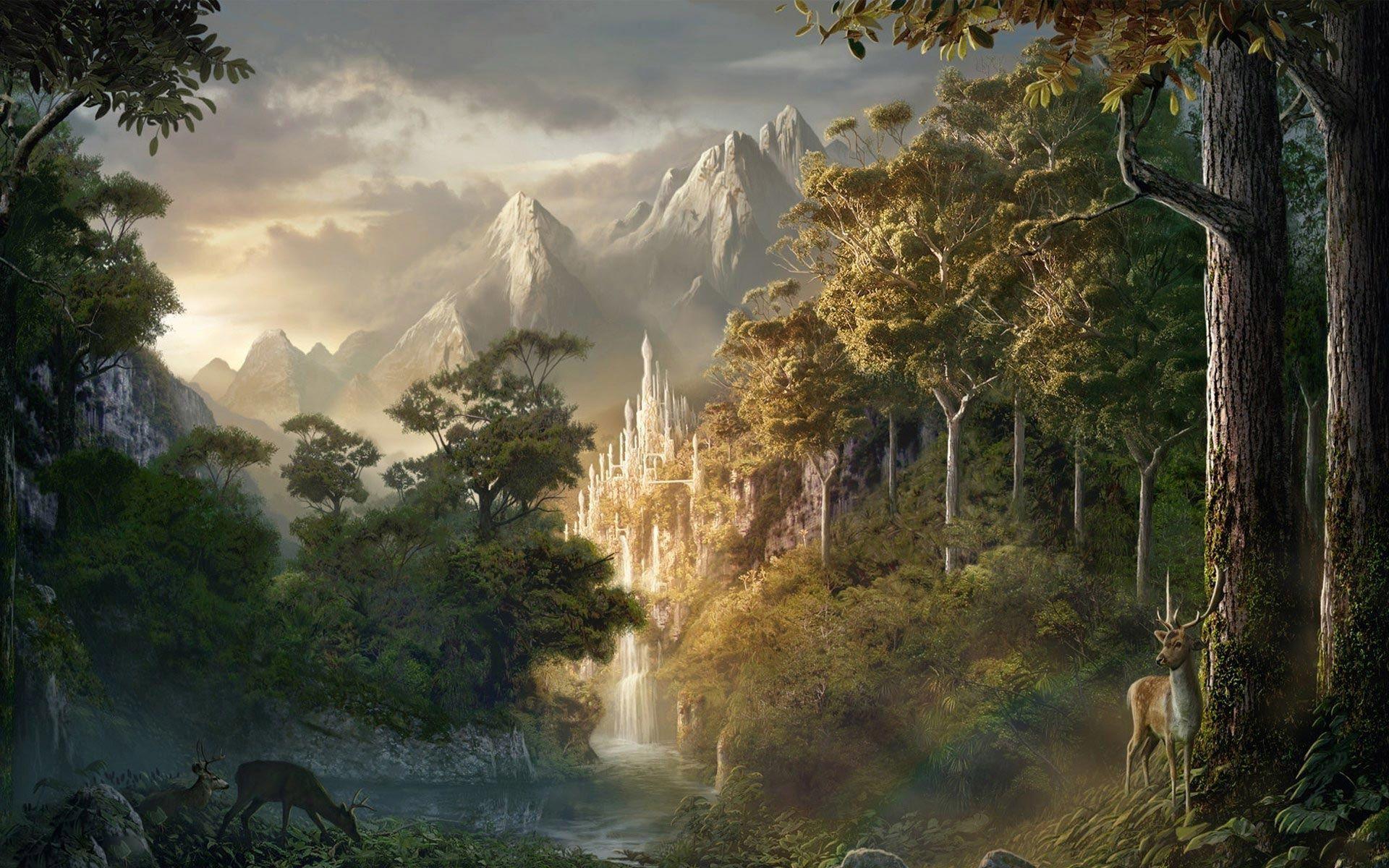 Fantasy Forest Wallpapers Fantasy Landscape Fantasy Forest Landscape Art