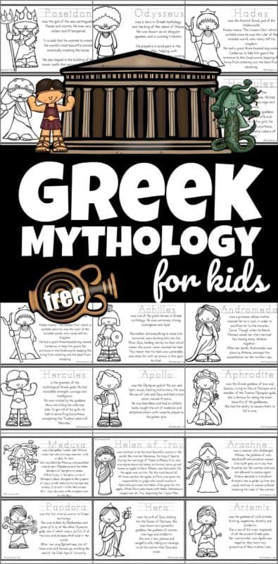 Photo of FREE Greek Mythology for Kids Printable Book