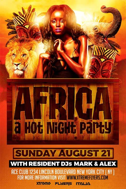 african party flyers
