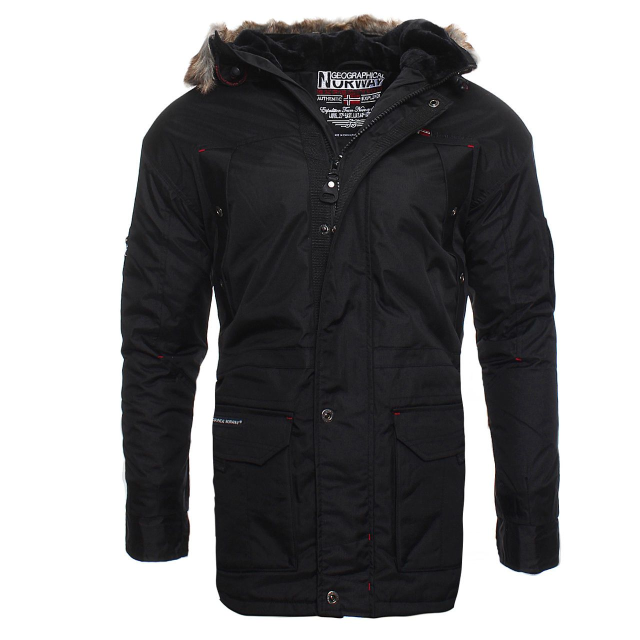 a82fc0bb2b2b Details about Geographical Norway Agada Men's Winter Jacket Parka ...
