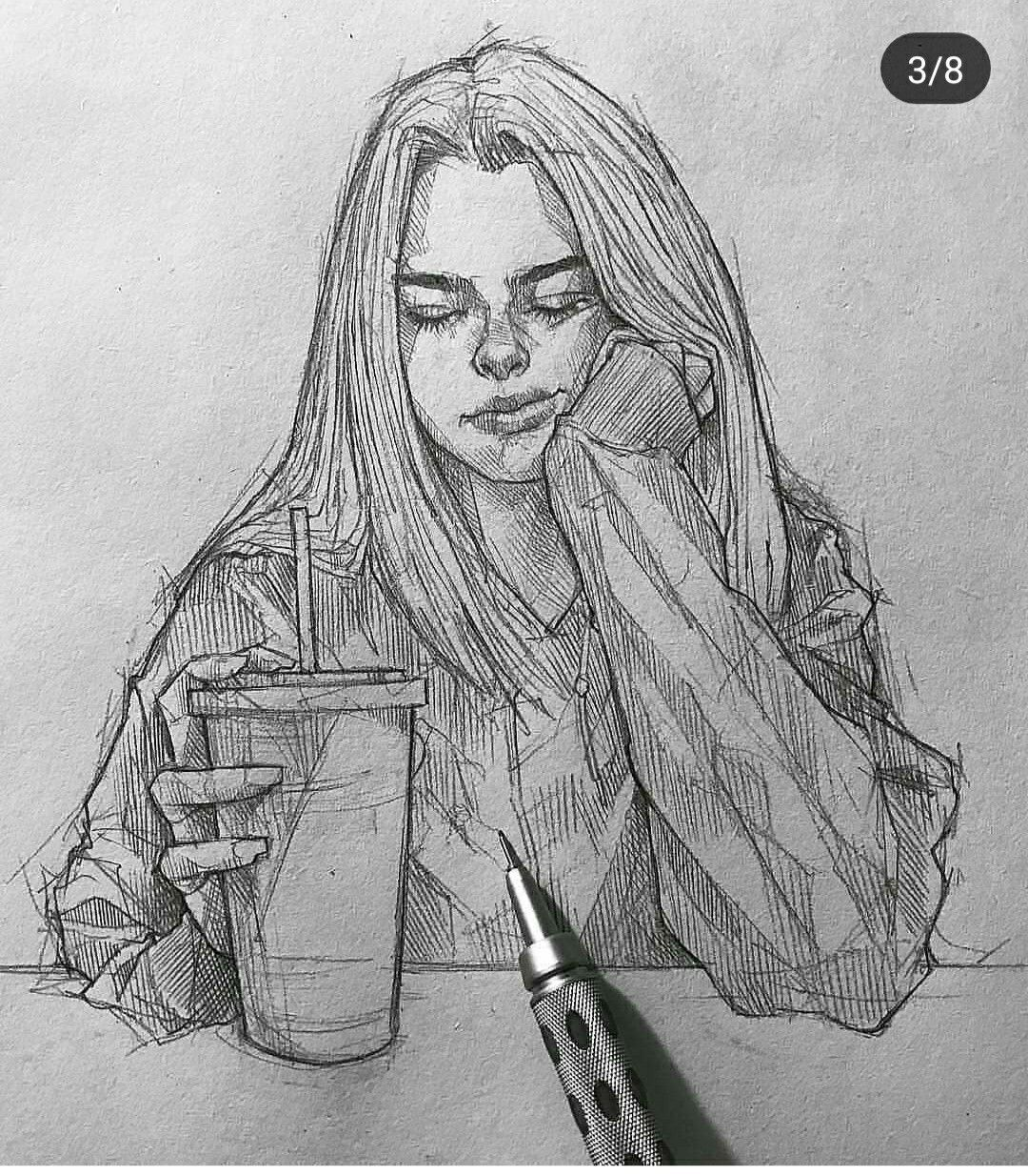 Pin by juliana 🔗 on Art (ღ˘⌣˘ღ) Sketches, Art sketches