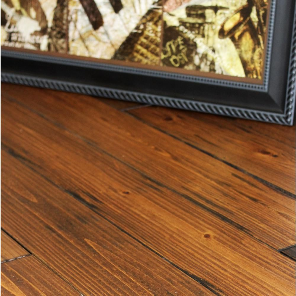 Hand Scraped Roasted Pine 3 4 In Thick X 5 1 8 In Wide X Random Length Solid Hardwood Flooring 23 3 Sq Ft Case P34518cn The Home Depot Solid Hardwood Floors Solid Hardwood Hardwood Floors