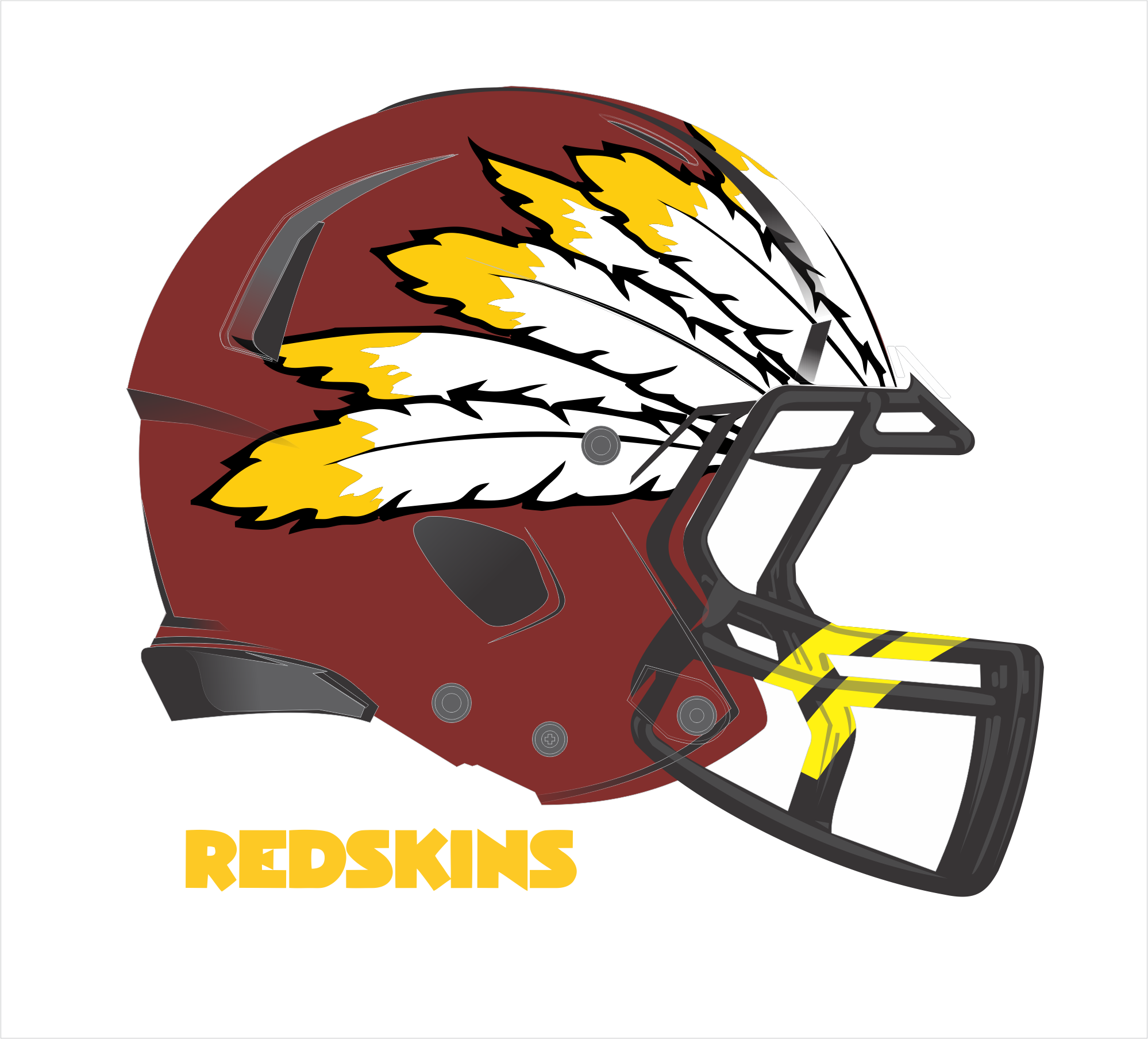 Washington Redskins Helmet Design Redskins logo