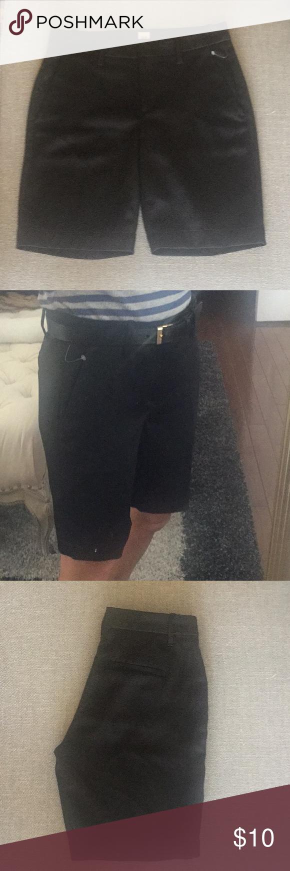Gap 00p Polished Bermuda Shorts True Black Dress Polyester Dress Gap Brand Bermuda Shorts [ 1740 x 580 Pixel ]
