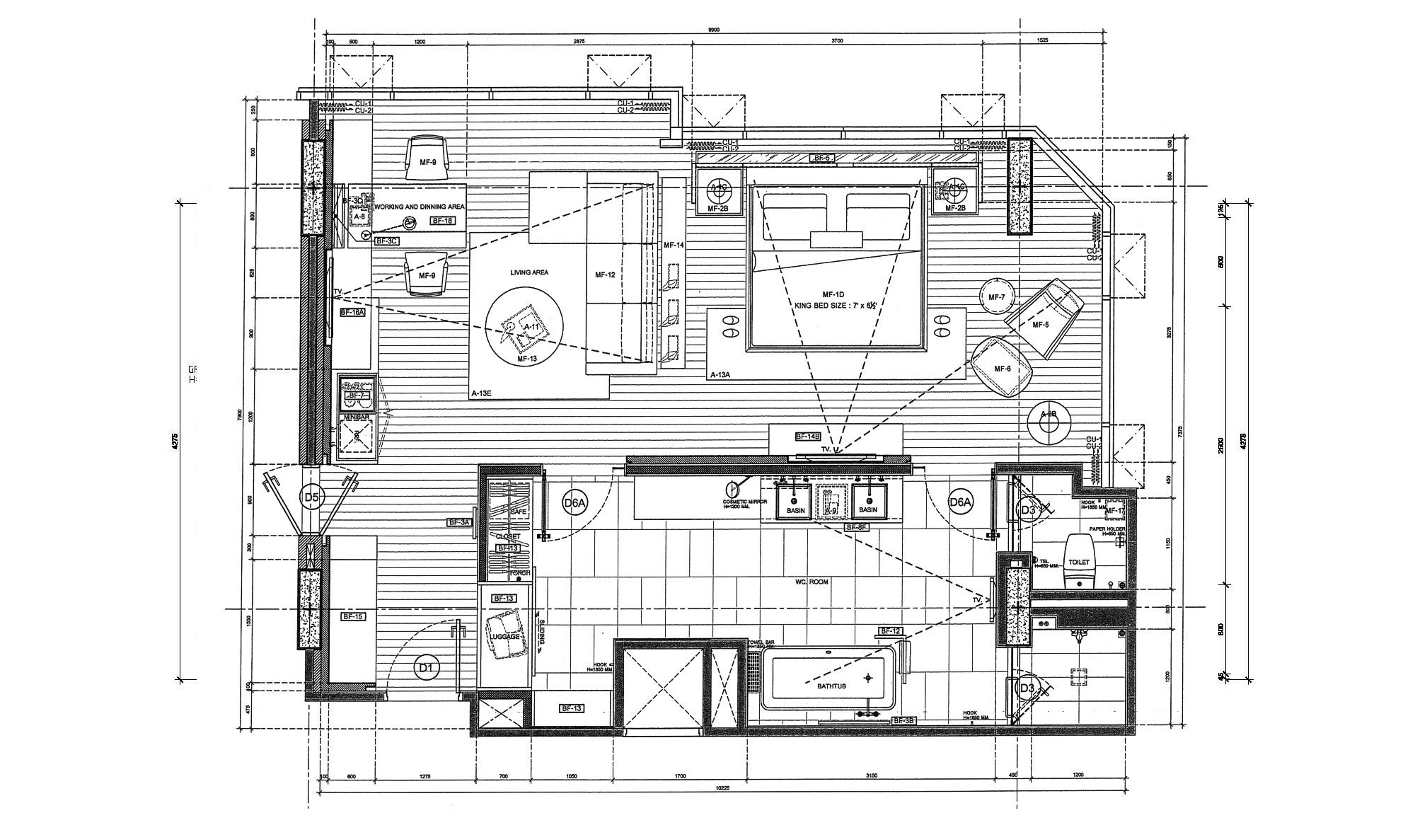 5 star hotel room plan google search architecture and for Hotel plan design