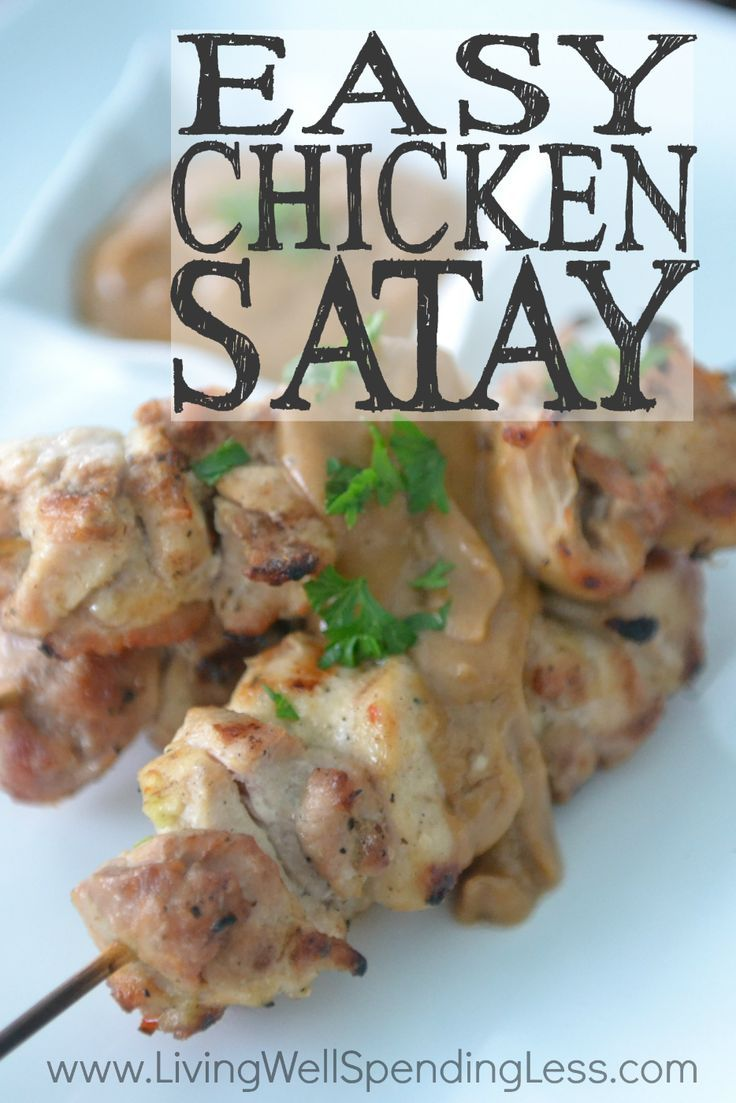 """Craving a delicious new solution to the same old chicken? This ridiculously easy chicken satay is so packed with flavor that you won't believe it is a freezer meal (and a """"cheater"""" one at that!)  It whips up in minutes for a deceptively simple meal that is guaranteed to impress!"""